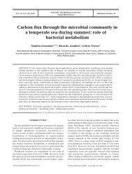 Carbon flux through the microbial community in a temperate sea ...