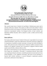 Metaboliti da piante mediterranee - Università di Palermo