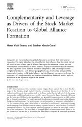 Complementarity and Leverage as Drivers of the Stock Market ...