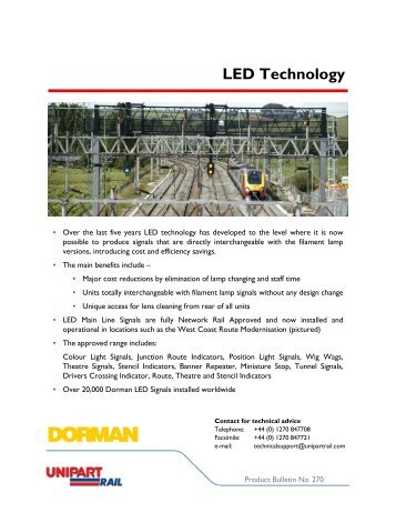 LED Technology - Unipart Rail