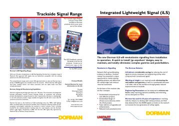 Integrated Lightweight Signal (iLS) Trackside Signal ... - Unipart Rail