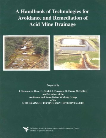 A Handbook of Technologies for Avoidance and Remediation of ...
