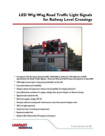 LED Wig-Wag Road Traffic Light Signals for Railway ... - Unipart Rail