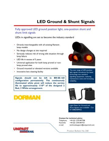 LED Ground & Shunt Signals - Unipart Rail