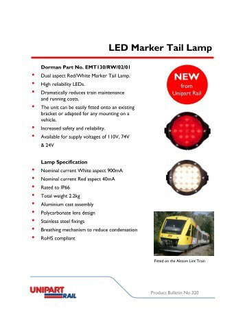 LED Marker Tail Lamp NEW - Unipart Rail