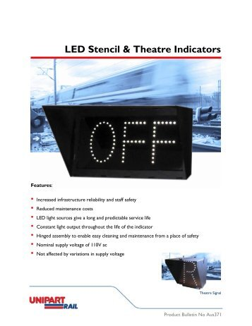 LED Stencil & Theatre Indicators - Unipart Rail