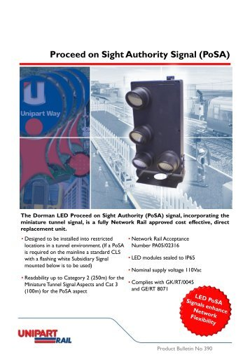 Proceed on Sight Authority Signal (PoSA) - Unipart Rail