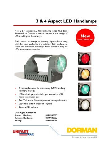 LED Handlamp - Unipart Rail