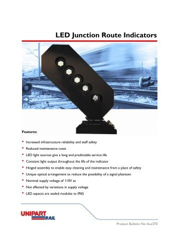 LED Junction Route Indicators - Unipart Rail