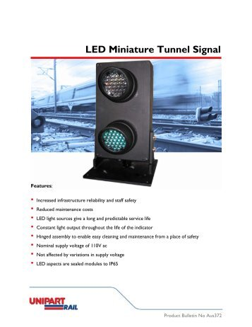 LED Miniature Tunnel Signal - Australia - Unipart Rail