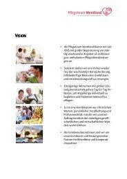 Vision & Werte - Pflegeteam Wentland