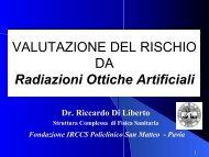 Valutazione Rischio Radiazioni Ottiche artificiali - Unipd-Org.It