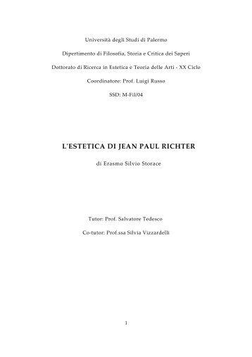 L'estetica di Jean Paul Richter - Università di Palermo