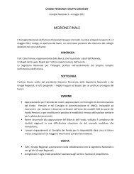 MOZIONE FINALE - Unipens