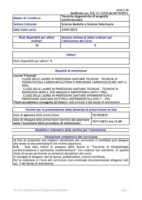 Unipi Calendario Accademico.Tecniche Diagnostiche Di Ecografia Universita Di Pisa