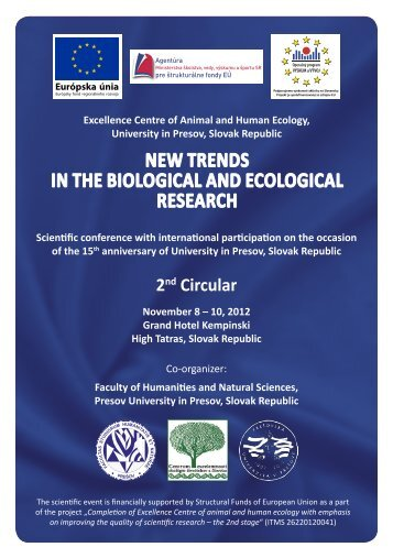 New TReNdS iN THe Biological aNd ecological ReSeaRcH