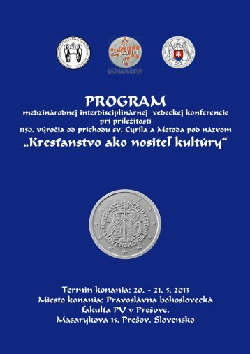 Program of conference