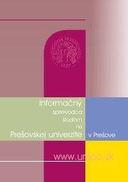 PREČO študovať na Prešovskej univerzite v Prešove - Prešovská ...