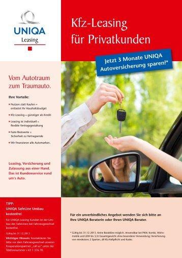 Kfz-Leasing für Privatkunden - Uniqa