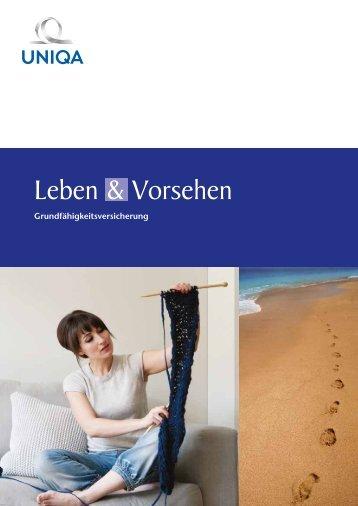 Folder Leben & Vorsehen Grundfähigkeitsversicherung - Uniqa
