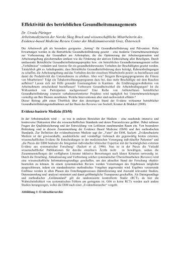 Effektivität des betrieblichen Gesundheitsmanagements - Uniqa
