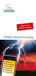 UNIQA Unwetterwarnung