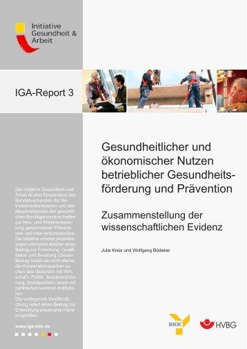 iga-Report 3: Gesundheitlicher und ökonomischer Nutzen ... - Uniqa