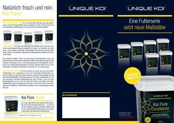 Download Flyer Unique Koi Futter