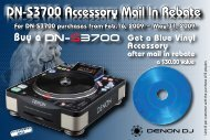 DN-S3700 Accessory Mail In Rebate DN-S3700 Accessory Mail In ...