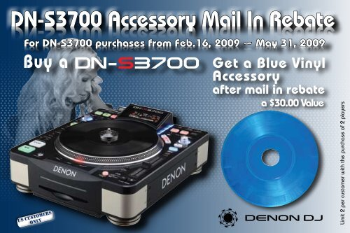Dn S3700 Accessory Mail In Rebate Dn S3700 Accessory Mail In