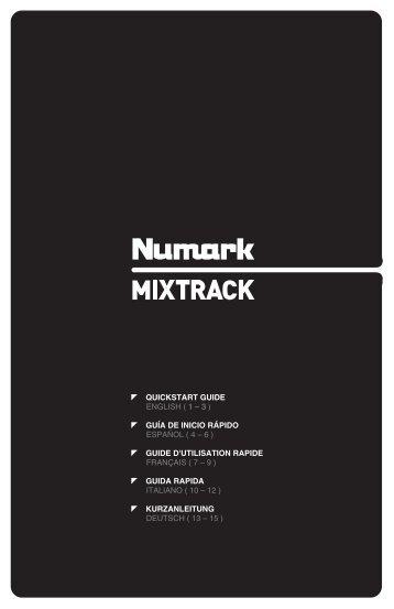 MIXTRACK - Quickstart Guide - v1.0 - Numark