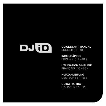 DJ IO Multilingual Quickstart - v1.4 - zZounds.com