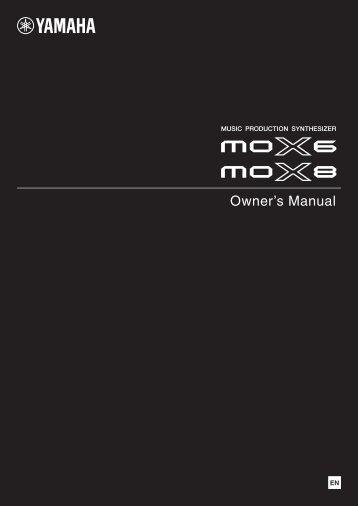 MOX6 / MOX8 Owner's Manual - Motifator.com