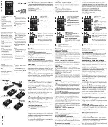 VoiceTone X1 - TC-Helicon