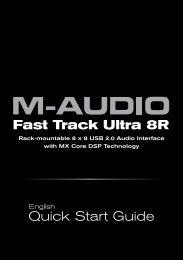Fast Track Ultra 8R Quick Start Guide - M-Audio