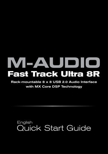 Fast Track Ultra 8R Quick Start Guide - M-Audio