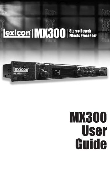 MX300 User Guide - AudioMaster