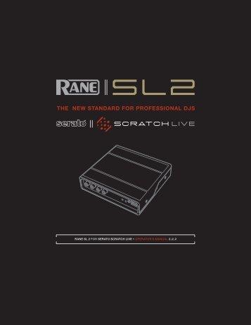 sl3 manual for serato scratch live 2 5 0 rane rh yumpu com Scratch Live SL3 Rane SL3