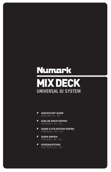 MIXDECK Quickstart Guide - v1.3 - UniqueSquared.com