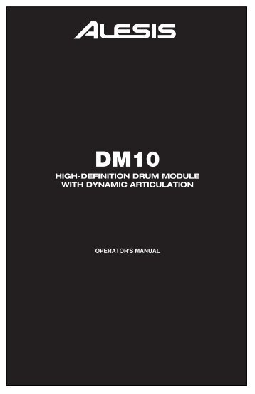 DM10 Reference Manual - RevC - zZounds.com