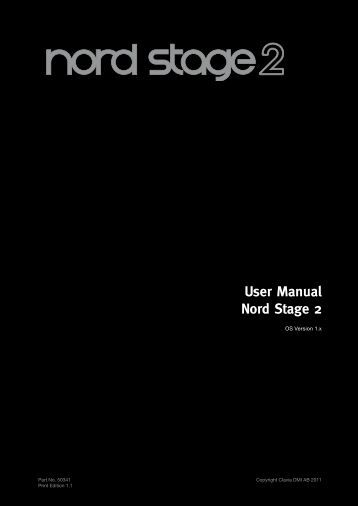 Nord Stage 2 Keyboard Manual - American Musical Supply