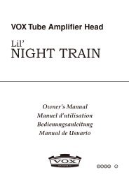 Lil' Night Train owner's manual - Vox