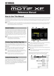 Download the Motif XF Reference Manual here - Motifator.com