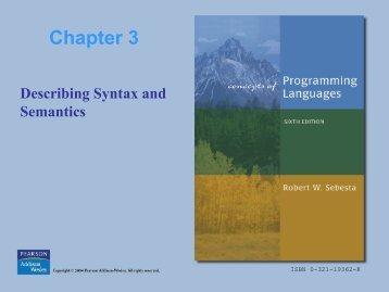 Programming Language Lecture -3 (pdf)
