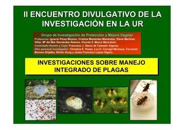 INVESTIGACIONES SOBRE MANEJO INTEGRADO DE PLAGAS ...