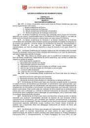 BOLSAS ACADÊMICAS NO REGIMENTO GERAL ... - UniRitter