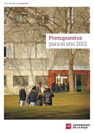 Presupuestos para el año 2012 - Universidad de La Rioja