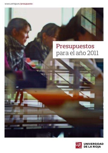Presupuestos Universidad de La Rioja 2011 (2.32MB)