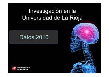 Datos 2010 Investigación en la Universidad de La Rioja