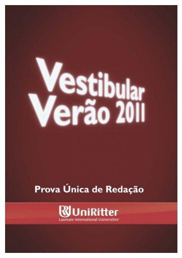 Prova do Vestibular de Verão 2011/1 - UniRitter